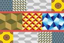 Геометрические квадраты абстрактные формы. свежий. катиться. далеко. храм. меню.